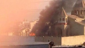 1,800-year-old church in Mosul destroyed by ISIS in July, 2014.